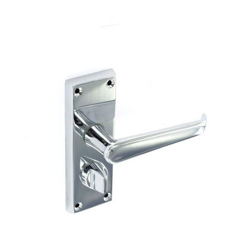 Securit S2923 Victorian Chrome Privacy Handles 118mm Pack Of 1 Pr