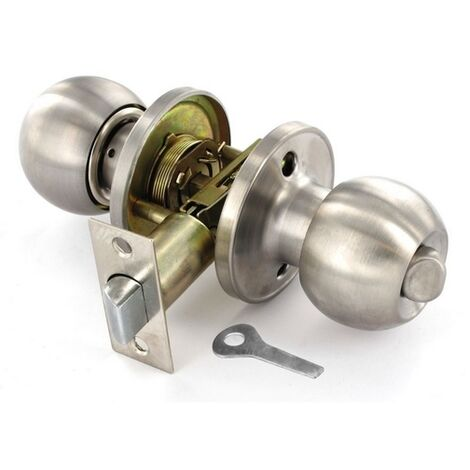 70MM SECURIT S2953 STAINLESS STEEL ENTRANCE LOCK KNOB SET WITH 3 KEYS SET 60MM