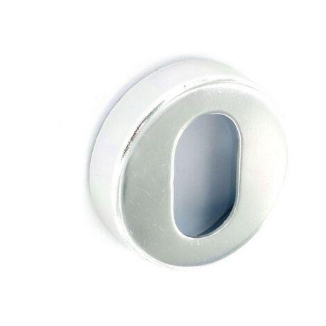 Securit S3032 Aluminium Oval Profile Escutcheon 50mm Pack Of 1