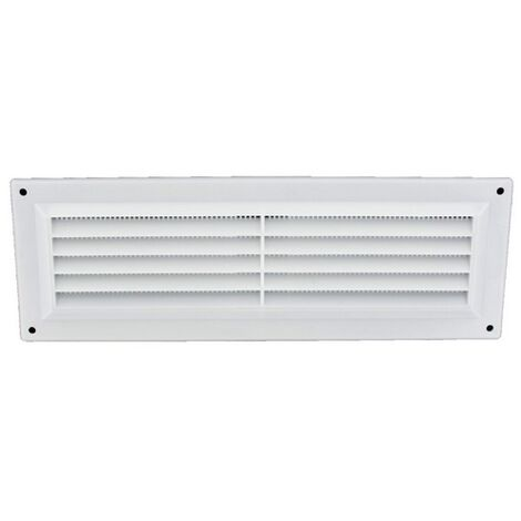 """main image of """"Securit S3257 White Plastic Louvre Vent 9"""" x 3"""" Pack Of 1"""""""