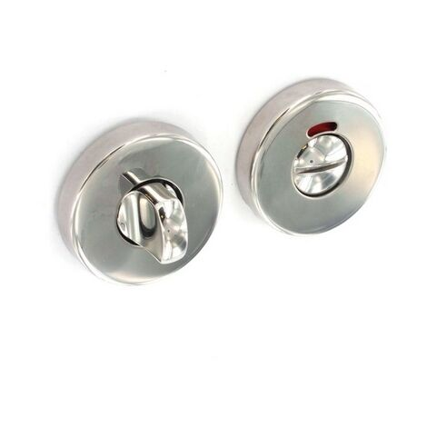 Securit S3474 Polished Stainless Steel Bathroom Thumbturn 50mm Pack Of 1