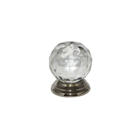 Securit S3551 Glass Ball Knob Chrome Plated 38mm Pack Of 2