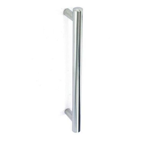 S3126 SECURIT POLISHED ALUMINIUM ROUND BAR DOOR HANDLE PULL 300MM