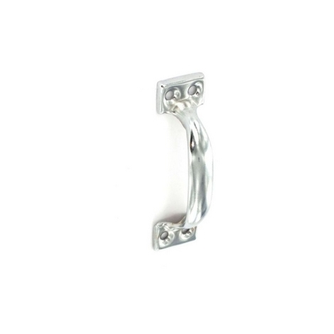 """main image of """"Securit S3691 Face Fix Pull Handle Bright Zinc Plated 100mm Pack Of 2"""""""