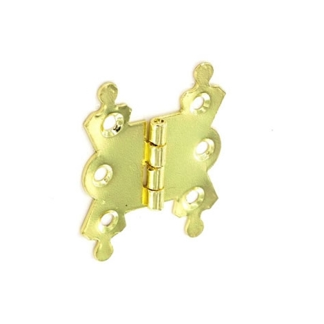 Securit S4291 Brass Plated Fancy Hinges 50mm Pack Of 1 Pr