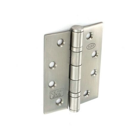 Securit S4296X Stainless Steel Bearing Hinges Satin CE 100mm Pack Of 11/2 Pr