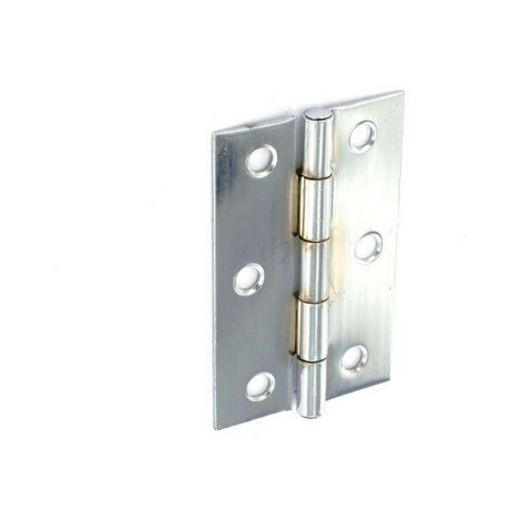 Securit S4302 Steel Butt Hinges Chrome Plated 75mm Pack Of 1 Pr