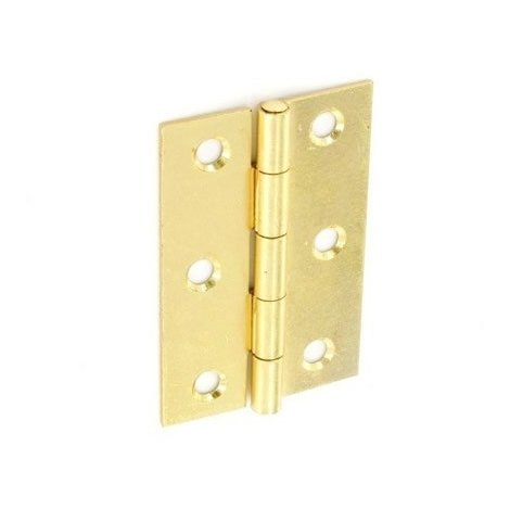"""Pack Of  4 Brass Self Colour hinges 1/"""" 25mm"""