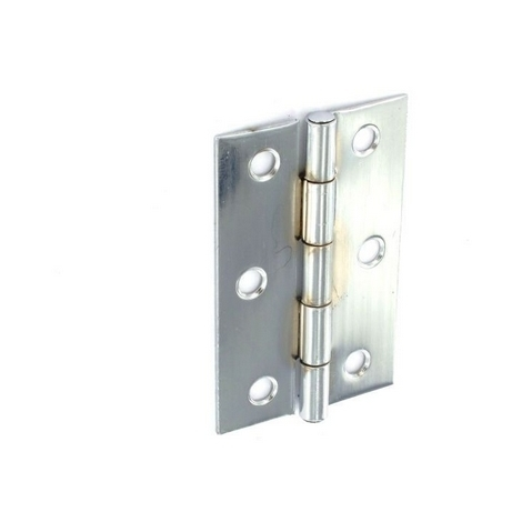 Securit S4309 Steel Butt Hinges Zinc Plated 100mm Pack Of 1 Pr