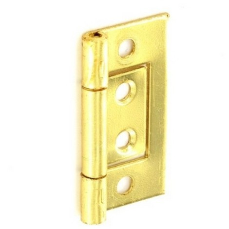 Securit S4404 Flush Hinges Brass Plated 75mm Pack Of 1 Pr