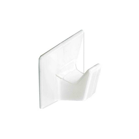 Securit S6351 Self Adhesive Hooks White Small Pack Of 4
