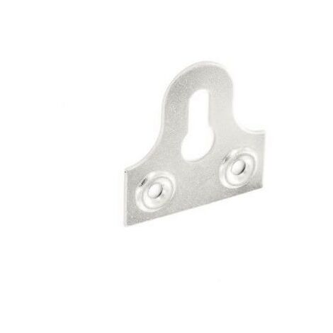 Securit S6815 Glass Plate Slotted Zinc Plated 32mm Pack Of 2