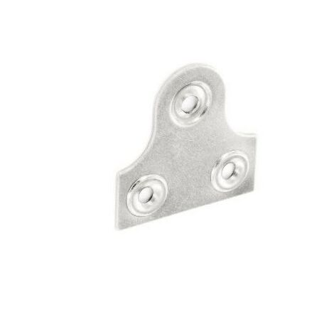 Securit S6818 Glass Plate Plain Zinc Plated 50mm Pack Of 2