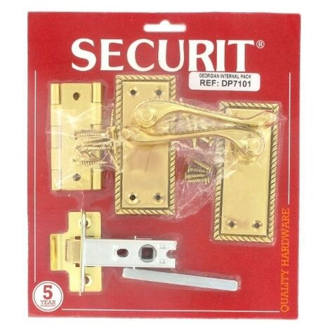 Securit S7101 Georgian Latch Handles 100mm Pack Of 1 Pr