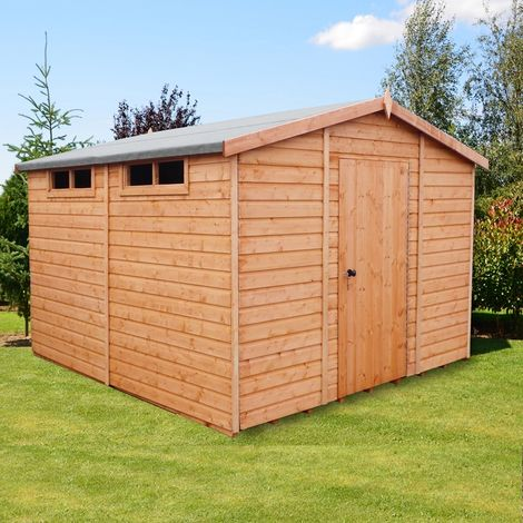 Security Apex Handmade Garden Shed Approx 10 x 10 Feet