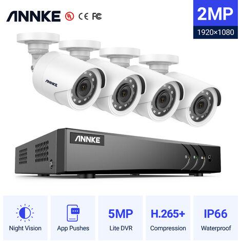 "main image of ""Security Camera ANNKE Professional 4CH 1080P HD CCTV DVR 4Pcs 1920x1080p 2.1Megapixels IP67 Weatherproof Surveillance Bullet Camera Home Security System"""