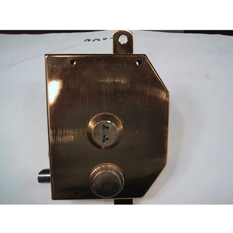 Security Deadbolt Overlay 3 Points Right Gold 913101Df-D Iseo
