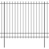 Security Palisade Fence with Pointed Top Steel 600x200 cm Black