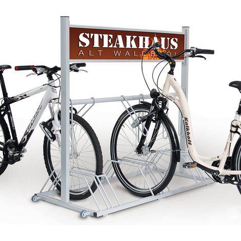 SECURITY STATION support vélo haute sécurité avec panneau publicitaire - couleur du nuancier au choix
