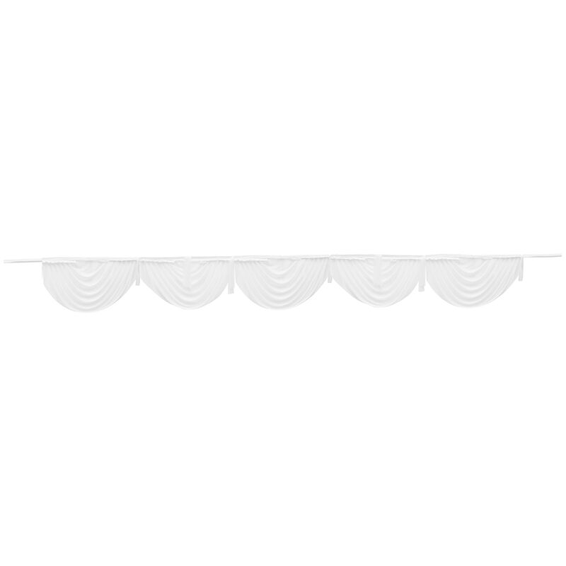 Augienb - Seda de hielo satinado decoración de la boda swags cortina etapa decoración del escenario blanco
