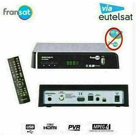 SEDEA RECEPTEUR SATELLITE FRANSAT Ð SF 4200 HD (EUTELSAT 5¡ OUEST) (VENDU SANS CARTE)