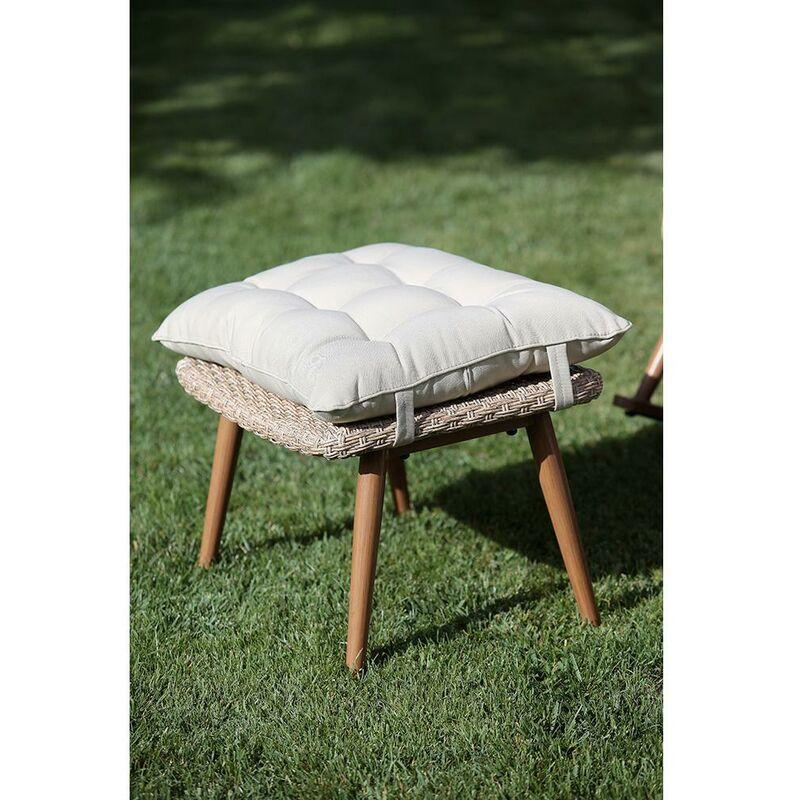 Sedia A Dondolo Per Esterno.Sedia A Dondolo Da Giardino Con Poggiapiedi In Polyrattan Adami Tirreno Naturale
