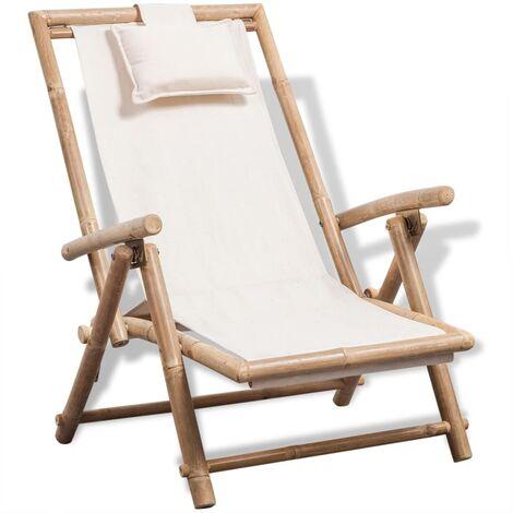 Sdraio Da Spiaggia Legno.Sedia A Sdraio Da Esterno In Legno Di Bambu