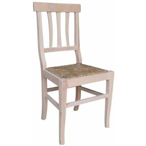 Sedia vittoria in legno grezzo da verniciare con seduta in ...