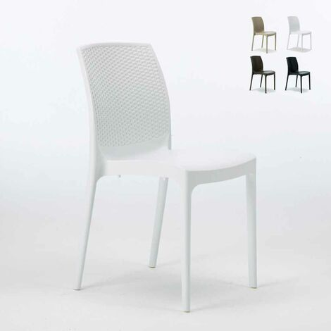 Come Pulire Le Sedie Di Plastica Da Giardino.Sedie Plastica Poly Rattan Bar Esterni Ed Interni Giardino