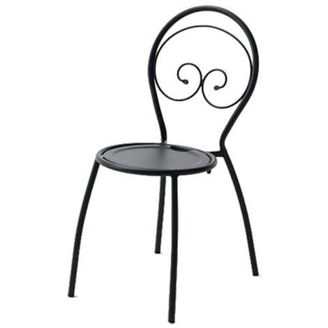 Sedia da esterno fiona 1, struttura, seduta e schienale in acciaio pre zincato, colore antracite