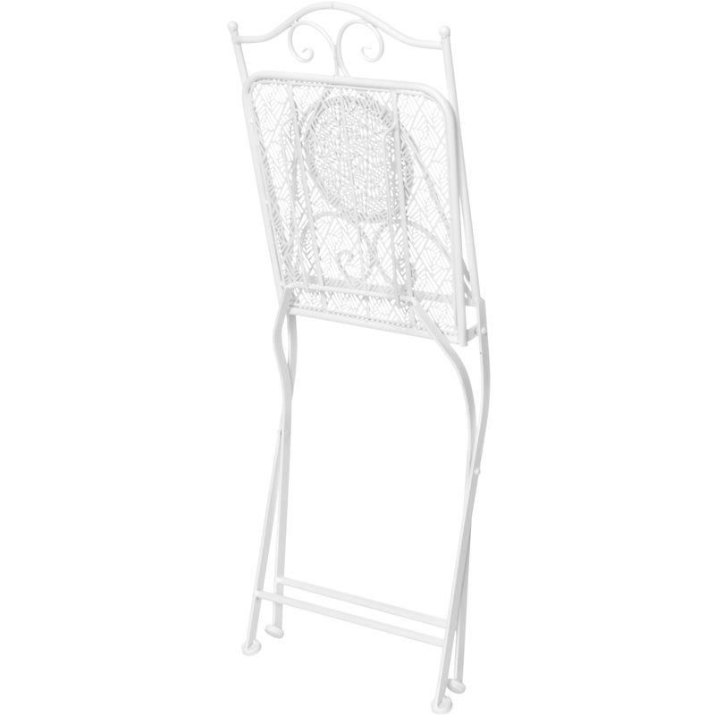 Sedia da esterno pieghevole 40x93x38 cm in metallo