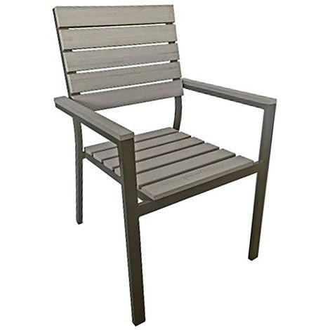 Sedia Da Giardino Con Braccioli In Alluminio Vorghini Devia Antracite