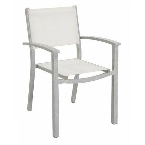 Sedie Da Esterno Con Braccioli.Sedia Da Giardino In Alluminio Portici Con Braccioli Impilabile