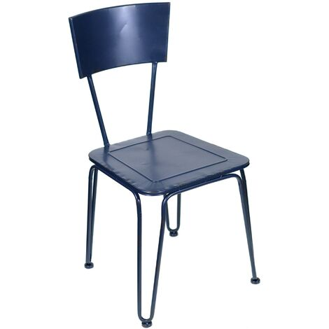 Sedie Da Giardino In Metallo.Sedia Da Giardino In Metallo Impilabile Adami Blu