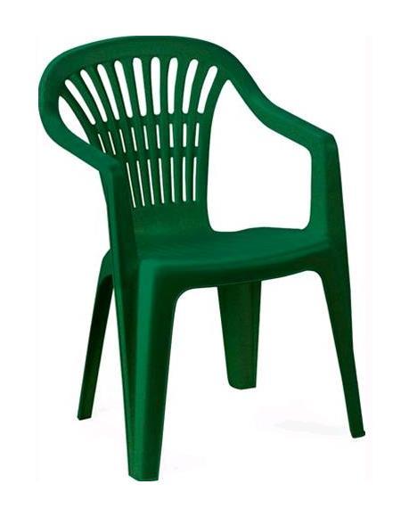 Sedie Da Esterno In Plastica.Sedia Da Giardino In Resina Mod Ischia Con Braccioli Impilabile