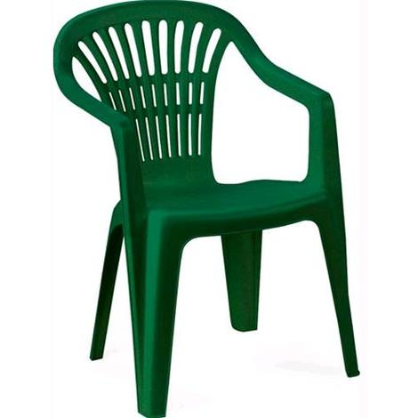Sedie Plastica Per Giardino.Sedia Da Giardino In Resina Mod Ischia Con Braccioli Impilabile Verde