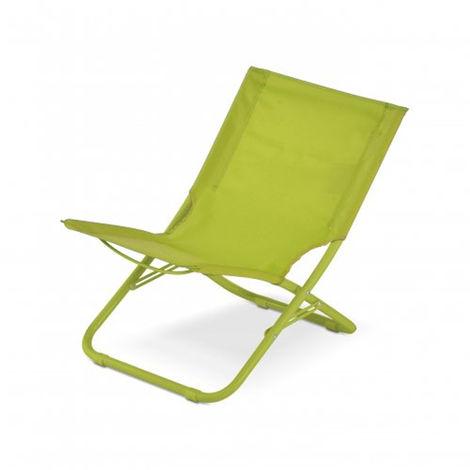 Sedie Da Mare Pieghevoli.Sedia Da Spiaggia Spiaggina Pieghevole Sdraio Da Mare Verde Tropea