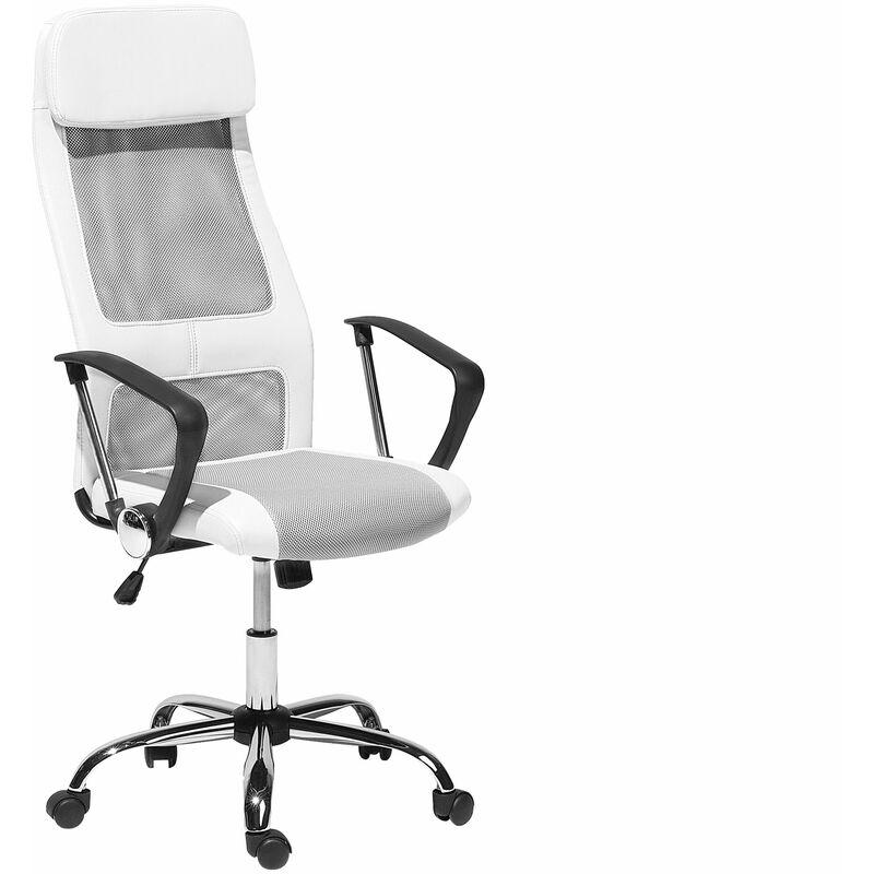 Sedia da ufficio bianca con altezza regolabile PIONEER ...