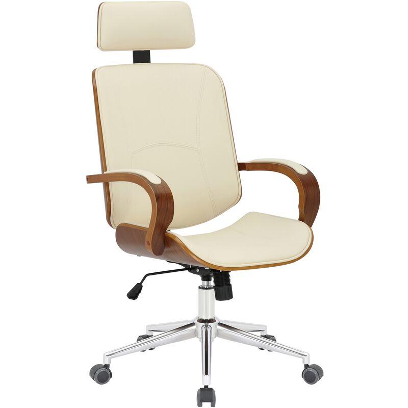 Sedia da ufficio Dayton Noce/crema - CLP191091104