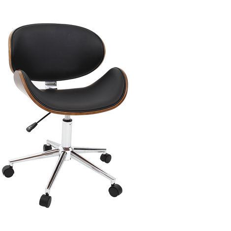 Sedia da ufficio design colore nero e legno walnut 34765 for Stock arredo ufficio