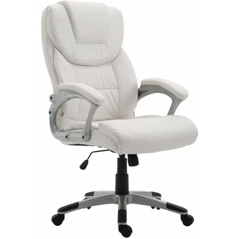 Sedia da ufficio XL Texas V2 in similpelle Bianco ...