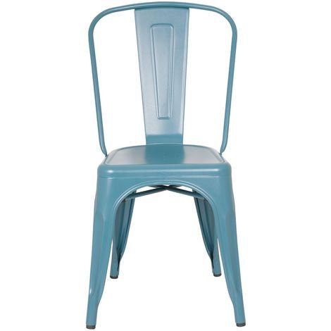Sedia dal design industrial colore Blu Foglia di Tè