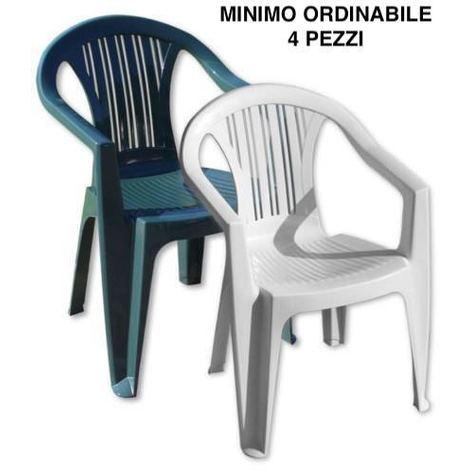 Sedie Per Esterno In Plastica.Sedia Giardino Esterno Bar Plastica Poltrona Ratak Bica Con