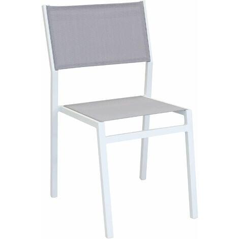 Sedie Da Giardino Impilabili.Sedia Impilabile In Alluminio Bianco E Textilene Da Esterno Giardino Per Ristorante Agriturismo Albergo Hotel