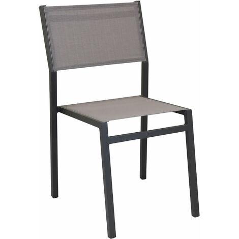 Sedie Per Ristorante Da Esterno.Sedia Impilabile In Alluminio Taupe E Textilene Da Esterno