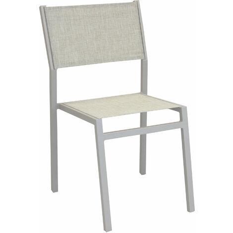 Sedie Per Ristorante Da Esterno.Sedia Impilabile In Alluminio Tortora E Textilene Da Esterno