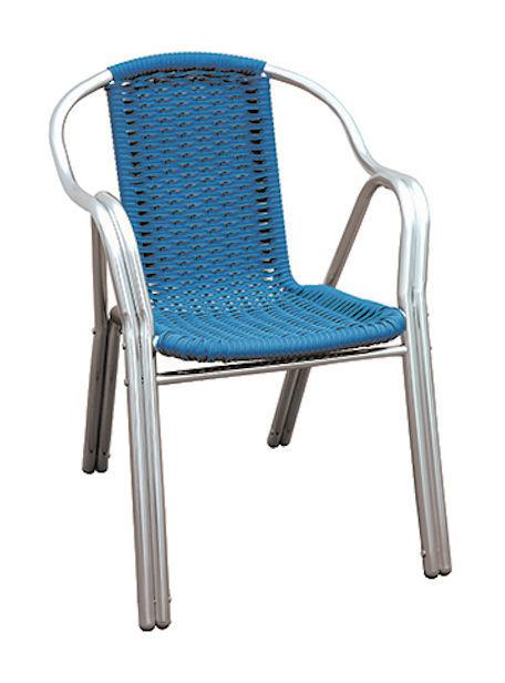 Filo Plastica Per Sedie.Sedia In Alluminio Doppio Tubo Filo Plastica Blu Cc40b