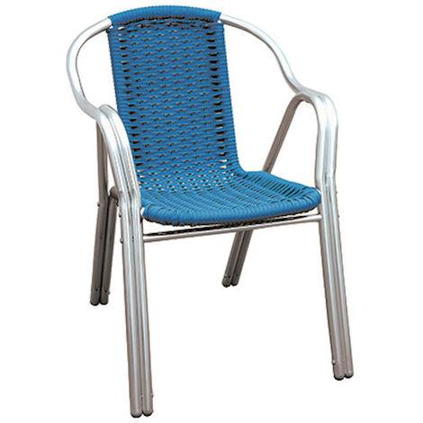 Filo Plastica Per Sedie.Sedia In Alluminio Doppio Tubo Filo Plastica Blu