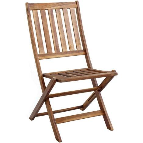 Sedie Per Il Giardino.Sedia In Legno Di Acacia Per Esterno Giardino Portico Ristorante Bar