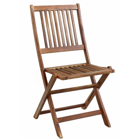 Sedie Legno Da Esterno.Sedia In Legno Di Acacia Per Esterno Giardino Portico Ristorante